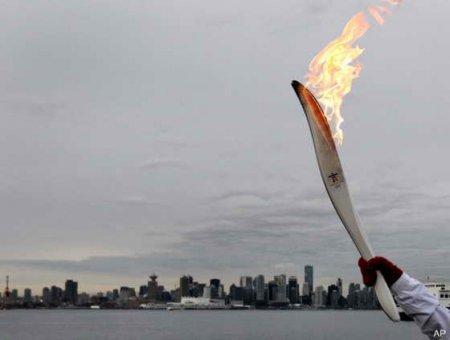 Олимпийский огонь на улицах Уфы